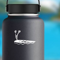 Slimy Snail Sticker on a Water Bottle example