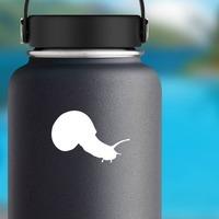 Slimy Snail Shape Sticker on a Water Bottle example