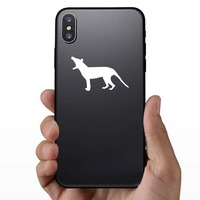 Small Wolf Coyote Howling Sticker on a Phone example