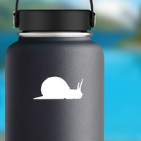 Snail With Long Antennas Sticker on a Water Bottle example