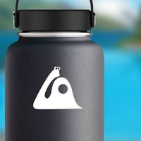 Snail With Long Neck And Dot In Shell Sticker on a Water Bottle example