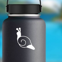 Snail  With Swirled Shell Sticker on a Water Bottle example