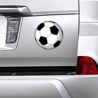 Soccer Ball Printed Full Color Magnet on a Car Bumper example