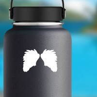 Soft Feathered Wings Sticker on a Water Bottle example