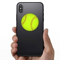 Softball Full Color Sticker on a Phone example
