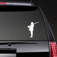 Soldier Sticker on a Rear Car Window example
