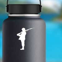 Soldier Sticker on a Water Bottle example