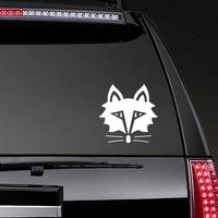 Solemn Fox Face Sticker on a Rear Car Window example