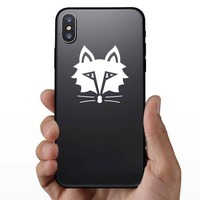 Solemn Fox Face Sticker on a Phone example