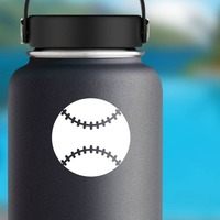 Solid Baseball or Softball Sticker on a Water Bottle example