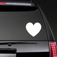 Solid Heart Sticker on a Rear Car Window example