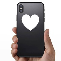 Solid Heart Sticker on a Phone example