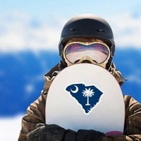 South Carolina Flag State Sticker on a Snowboard example