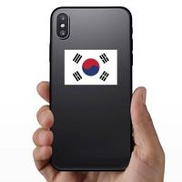 South Korea Flag Sticker on a Phone example
