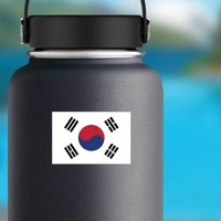 South Korea Flag Sticker on a Water Bottle example