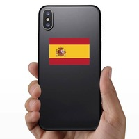 Spain Flag Sticker on a Phone example