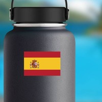 Spain Flag Sticker on a Water Bottle example