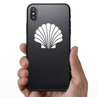 Spirited Seashell Sticker on a Phone example