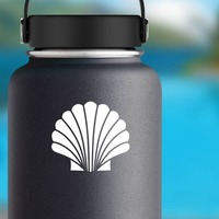 Spirited Seashell Sticker on a Water Bottle example