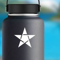 Spirited Star Sticker on a Water Bottle example