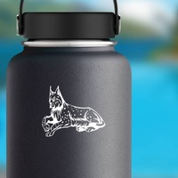 Spotted Lynx Sticker on a Water Bottle example