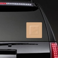 Square Band Aid Bandage Sticker on a Rear Car Window example