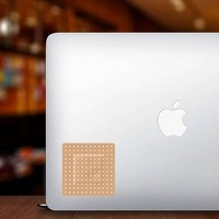 Square Band Aid Bandage Sticker on a Laptop example