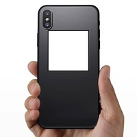 Square Shape Sticker on a Phone example
