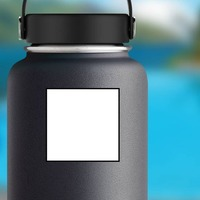 Square Shape Sticker on a Water Bottle example