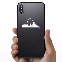 St. Louis Gateway Arch Sticker on a Phone example