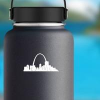 St. Louis Gateway Arch Sticker on a Water Bottle example