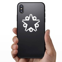 Star With Five Little Stars Sticker on a Phone example