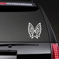 Star With Wings Sticker on a Rear Car Window example