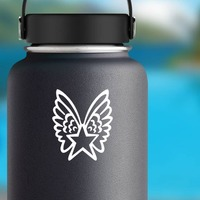 Star With Wings Sticker on a Water Bottle example