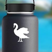 Starttled Goose Sticker on a Water Bottle example