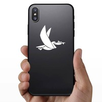Stork Carrying Fish Sticker on a Phone example