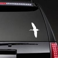 Stork Flying Sticker on a Rear Car Window example