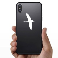 Stork Flying Sticker on a Phone example
