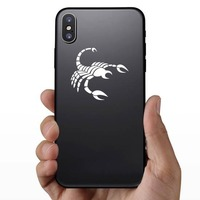 Striped Scorpion Sticker on a Phone example