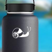 Striped Snail Sticker on a Water Bottle example