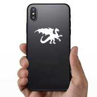 Strong Dragon Sticker on a Phone example