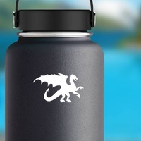 Strong Dragon Sticker on a Water Bottle example