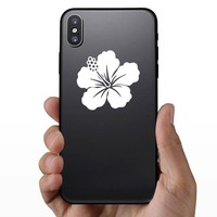 Stunning Hibiscus Flower Sticker on a Phone example
