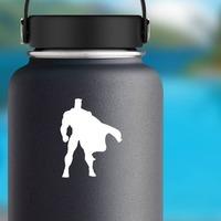 Superhero Sticker on a Water Bottle example