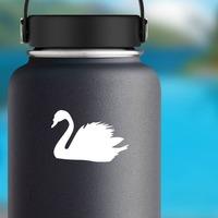 Swan Sticker on a Water Bottle example