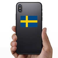 Sweden Flag Sticker on a Phone example