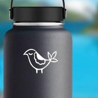 Sweet Partridge Sticker on a Water Bottle example