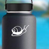 Sweet Snail Sticker on a Water Bottle example
