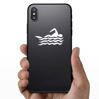 Swimmer Sticker on a Phone example