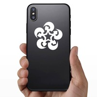 Swirling Star Sticker on a Phone example